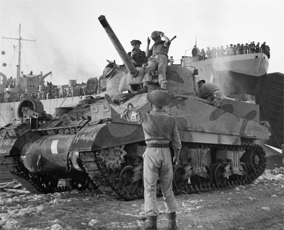 1943: the Royal Scots Greys' Sherman tanks   The Dining